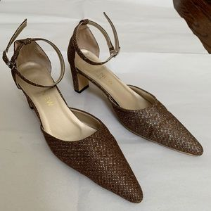 Nine West Brown Shimmer Pointed Heels size 5